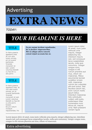 School Newspaper Template  Newspaper Template